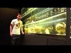 Em casa, Leo Messi exibe as quatro conquistas como melhor do mundo