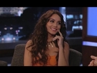 Vanessa Hudgens on Jimmy Kimmel Live PART 1