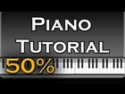 Bruno Mars - Young Girls (EASY) Piano Tutorial [50% speed] (Synthesia)