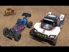 RC ADVENTURES - LOSi 5ive T (5T)  4X4 & REDCAT XBe  - EXTREME HiGH JUMPiNG - 100% AWESOME!