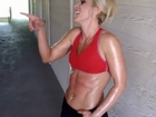 sexy female abs punch