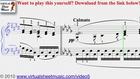 Debussy's Clair de Lune sheet music - Video Score