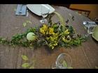Décoration de table végétale en hiver